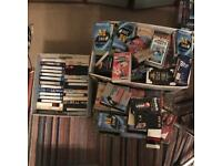 Huge job lot of VHS Video Cassettes - probably over 150 - Blank, home recorded and films/cartoons