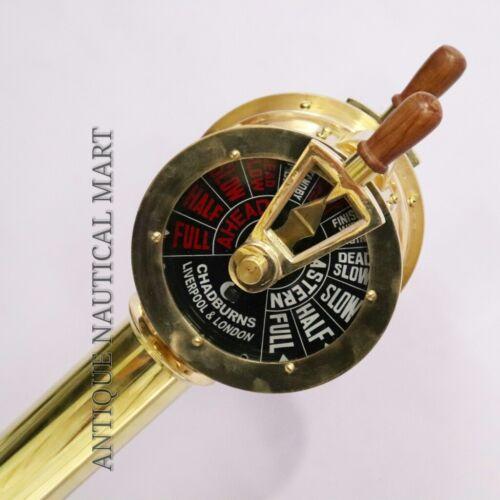 Brass Telegraph Antique Nautical Maritime Home Decorative 40 Inch