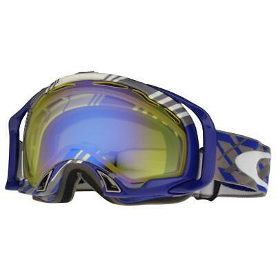 90bfa8173 Oakley 57-744 Splice Tech Plaid Blue w HI Yellow Mens Snow Board Ski  Goggles .