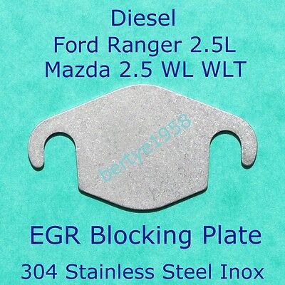 EGR Valve blanking plate 25 Ford Ranger MZR CD engine Mazda WL WLT All Years