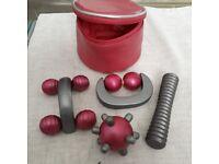 Set massage rollers