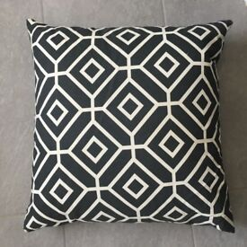 Square Pillow Black and White 46cm by 46cm