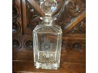 R.A.F GLASS DECANTER