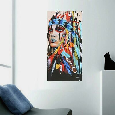 Abstract Indian Woman Canvas Oil Painting Print Picture Home Wall Art Decor USA