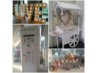 Sweet Cart Light Up Love Letters Numbers Ferrero Rocher Post Box Hire