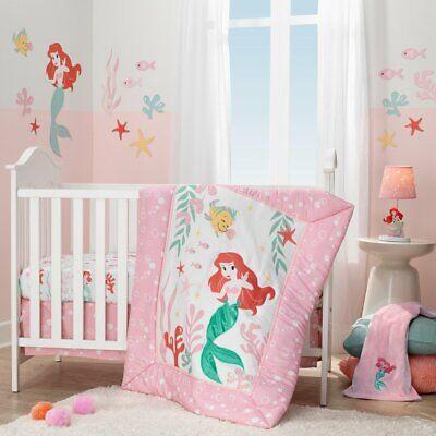 - New Lambs & Ivy Disney Ariel's Grotto 3 Piece Baby Nursery Crib Bedding Set