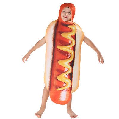 Halloween Hot Dog (Child Hot Dog Costume Kids Funny Halloween Fancy)