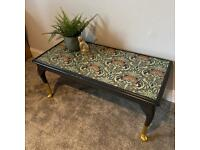 Upcycled Antique Coffee Table Low Edwardian SOLD!!