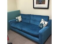 Immaculate, modern 4 seater sofa and two armchairs