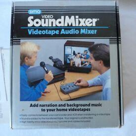 New Vintage Video Sound Mixer Set NIB