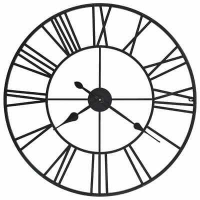 vidaXL Wanduhr Vintage Quarzwerk Metall 80 cm XXL Analog Uhr Wohnzimmer Uhr