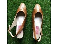 Vintage heel shoes sandals leather