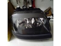 Pair bosch headlights complete for fiat doblo 2001 - 2010 pair left and right including bulbs
