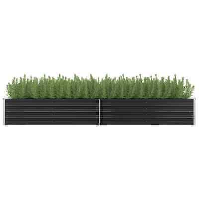 vidaXL Garden Planter Anthracite 320x80x45cm Galvanised Steel Raised Bed Pot