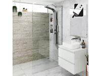 Premium Glass Wetroom Panel - 1950mm x 800mm x 8mm