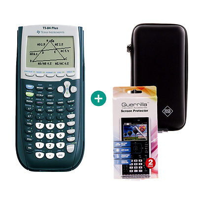 TI 84 Plus Taschenrechner Grafikrechner + Schutztasche und Schutzfolie ()