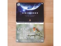 2 x DVD Boxsets Great British Birds + The Universe History Channel