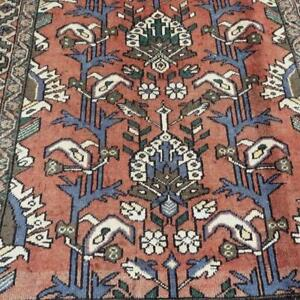 Bakhtiari Semi-Antique Persian Rug , Handmade Carpet, Wool, Brown, Beige, Blue and Green Size: 6.6 X 4.9 ft