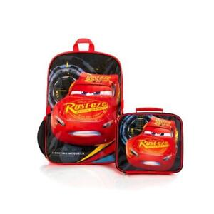 Disney Econo Cars 3 Lightning Rust-eze Kids School Backpack with Insulated Lunch Kit