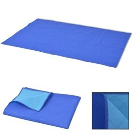 Picnic Blanket Blue and Light Blue 100x150 cm-131580