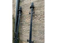 Wrought iron washing poles