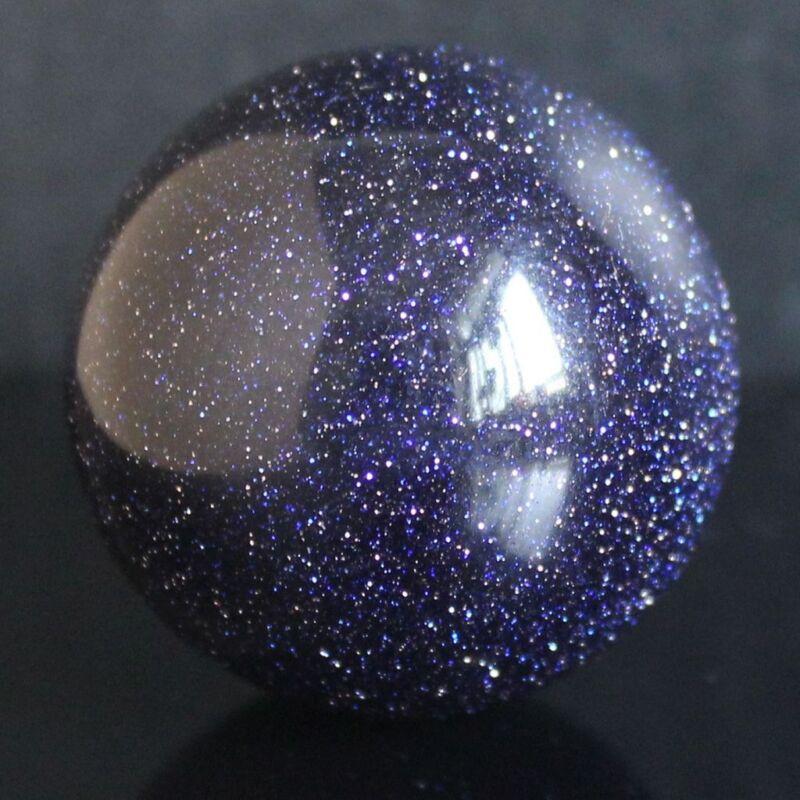 30mm Blue goldstone sandstone sphere ball chakra reiki healing