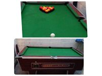 """6"""" slate bed pool table for sale"""