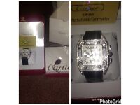 Mens Cartier Swiss santos ap watch iced out brand new with box and papers