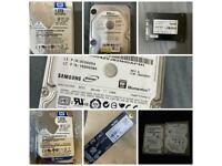 Samsung seagate wd HDD SSD hard drive solid state m2 nvme pcie disk 500GB 1000gb 1TB 32GB 320gb 250