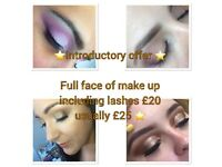 Special introductory offer: make up £20 full face including lashes. In Currie, Edinburgh ⭐️