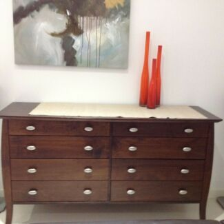 Freedom Buffet / Chest of Draws (Can Delivery) Dark brown 8 draw