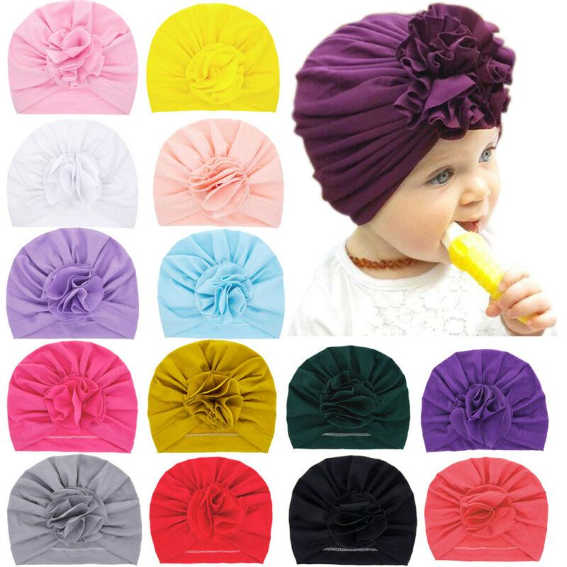 Newborn Baby Boy Girl Solid Knotted Hat Beanie Headwear Cap