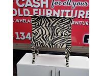 Zebra skin print 3 drawer cabinet £69