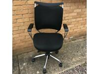 Black Office Swivel Recliner Chair