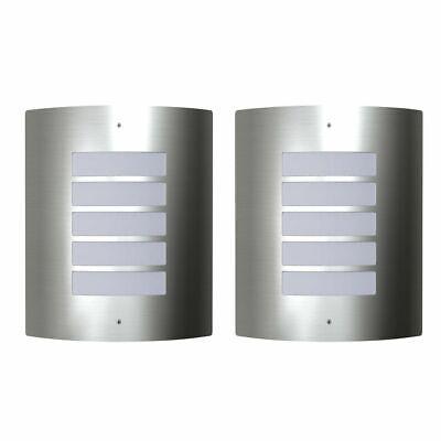 vidaXL 2x Lámparas de Pared Exterior Semicircular Acero Inoxidable Apliques