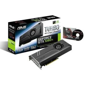 NEW ASUS GeForce GTX 1080 Ti 11GB Turbo Edition VR Ready 5K HD Gaming HDMI Display