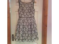Coast Dress Silver & Black