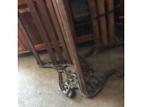Reduced heavy vintage cast iron bench