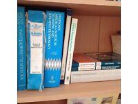 Various nursing books.