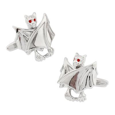 Bat Halloween VampirePair Cufflinks Wedding in a Gift Box & Polishing Cloth