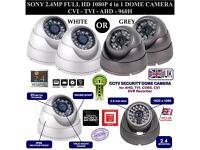 2.4MP SONY Full HD 1080P SMD LED 4in1 - CVI-TVI-AHD-960H CCTV Dome Camera 3.6mm Lens