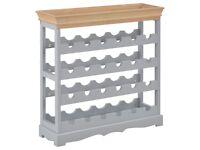 Wine Cabinet Grey 70x22.5x70.5 cm MDF-280066