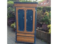 Vintage Continental Pine Wardrobe - shabby chic , quality upcycle