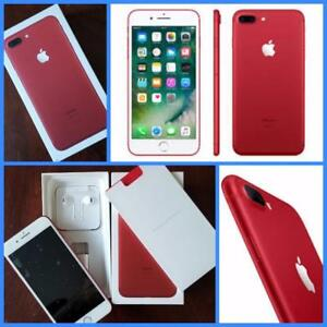 Like New Apple iPhone 7 Plus 128GB Special RED, Factory Unlocked/ Freedom Mobile!!! Apple Warranty!!!*****-------------