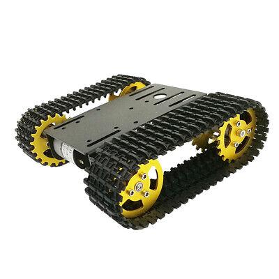 Black Smart Robot Car Tank Chassis Kits Aluminum Alloy Big Platform