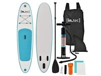 [in.tec]® SUP Stand-Up Paddle Board Surfboard - Inflatable 305 x 71 x 10cm Turquoise or Red