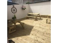 All paving, fencing, decking, kerbing, joinery, building and garden services
