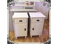 Shabby chic pair of bedside tables