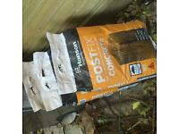 Six bags of Hanson PostFix Concrete