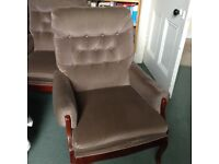 Two Cintique armchairs